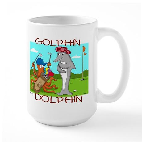 Golphin Dolphin Large Mug