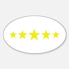 5 star deluxe five Oval Decal
