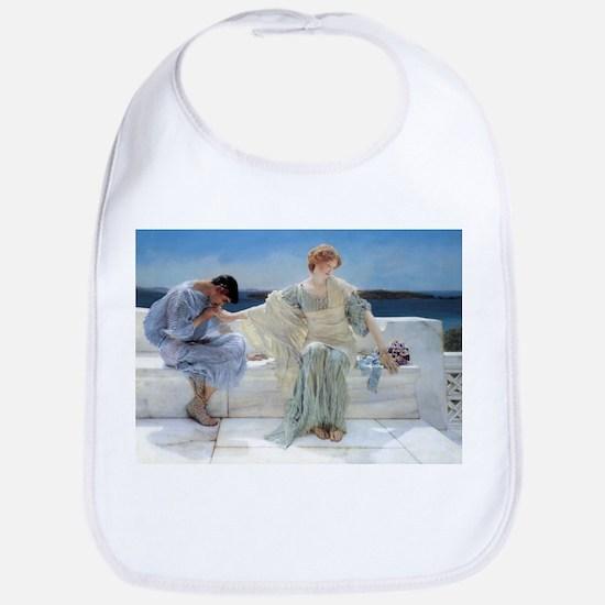 Alma Tadema Ask Me No More Bib