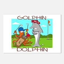 Golphin Dolphin Postcards (Pkg of 8)