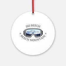 Ski Beech - Beech Mountain - Nort Round Ornament