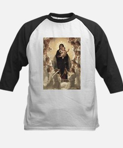 Regina Angelorum by Bouguereau Kids Baseball Jerse