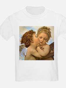First Kiss by Bouguereau T-Shirt