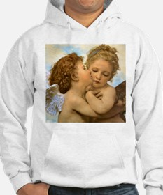 First Kiss by Bouguereau Hoodie