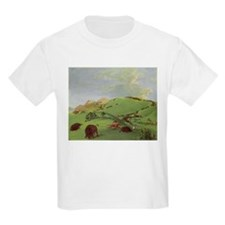 Buffalo Chase by George Catlin T-Shirt