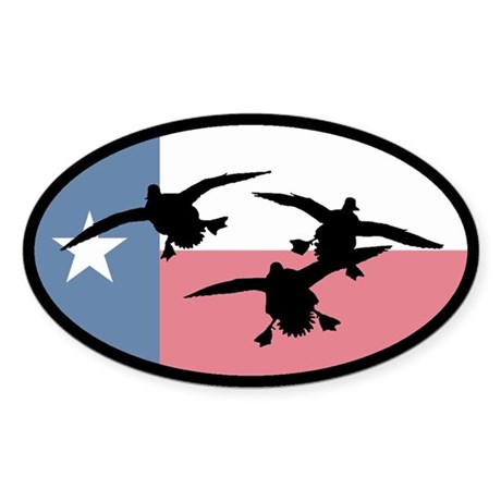 Texas Ducks Oval Sticker