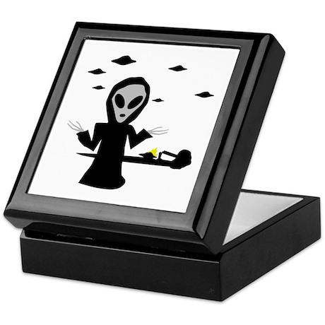 alien area 51 accident Keepsake Box
