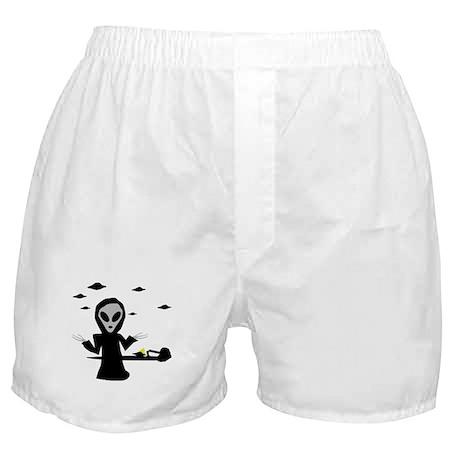 alien area 51 accident Boxer Shorts