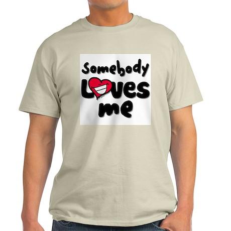 Somebody Loves Me Ash Grey T-Shirt