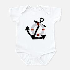 anchor and lifesaver Infant Bodysuit
