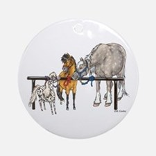 3 Hitched Ornament (Round)