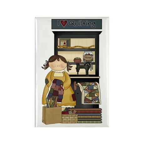 Love Quilting Rectangle Magnet (10 pack)