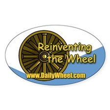 Reinventing the Wheel Oval Decal