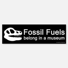 Fossil Fuels Black (sticker)