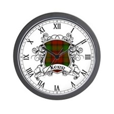 Kerr Tartan Shield Wall Clock