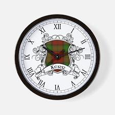Kerr Tartan Shield Wall Clock