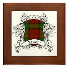 Kerr Tartan Shield Framed Tile