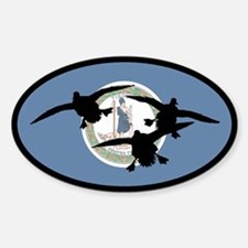 Virginia Ducks Oval Decal