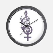 Woman Power Icon Wall Clock