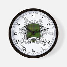 Kennedy Tartan Shield Wall Clock