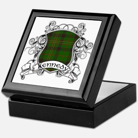 Kennedy Tartan Shield Keepsake Box