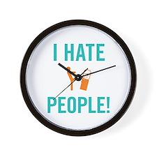 I Hate People Wall Clock