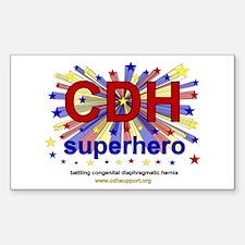 CDH Superhero Stars Logo for Boys Decal