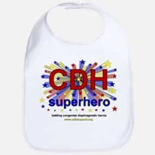CDH Superhero Stars Logo for Boys Bib