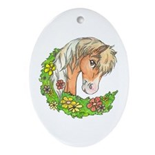 Spring Pinto Oval Ornament