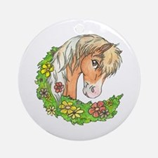 Spring Pinto Ornament (Round)