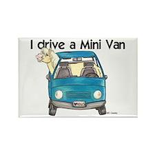 P Mini Van Rectangle Magnet