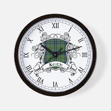 Keith Tartan Shield Wall Clock