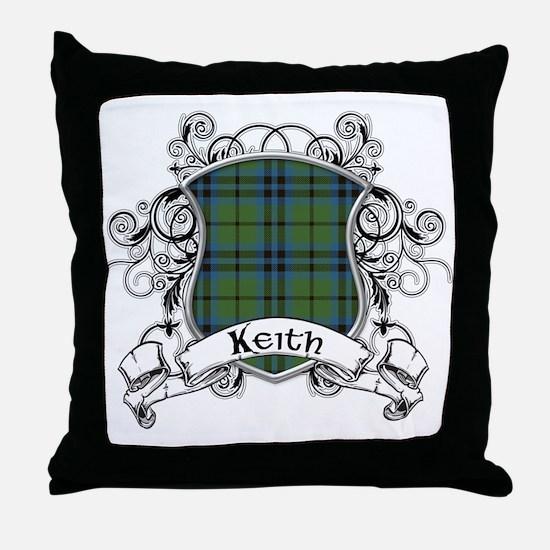 Keith Tartan Shield Throw Pillow