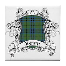 Keith Tartan Shield Tile Coaster