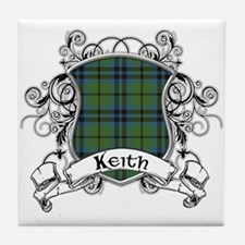 Keith Tartan Shield Tile Coaster