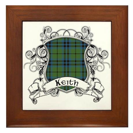 Keith Tartan Shield Framed Tile