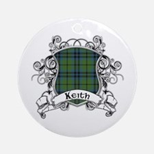 Keith Tartan Shield Ornament (Round)