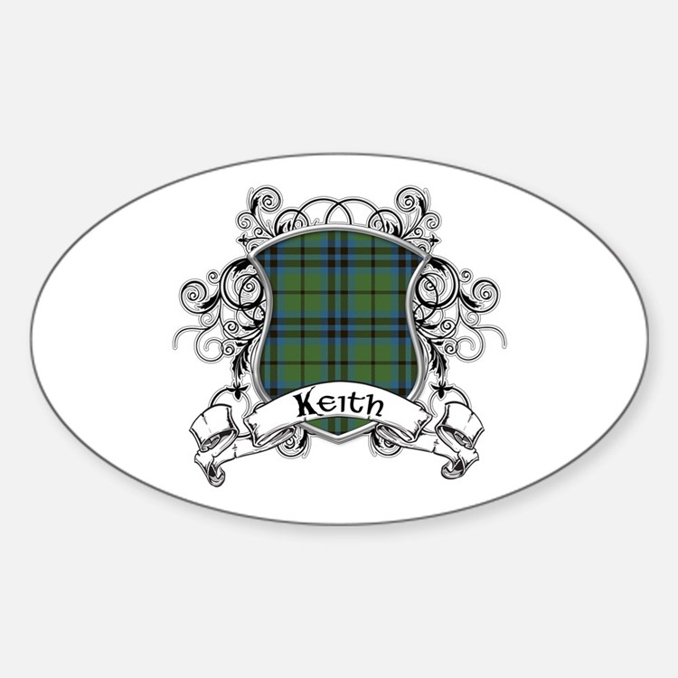 Keith Tartan Shield Sticker (Oval)