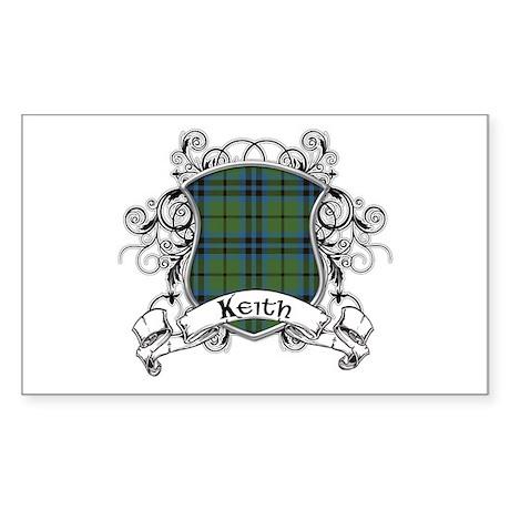 Keith Tartan Shield Sticker (Rectangle)