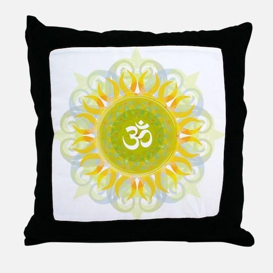 Om Mandala Throw Pillow