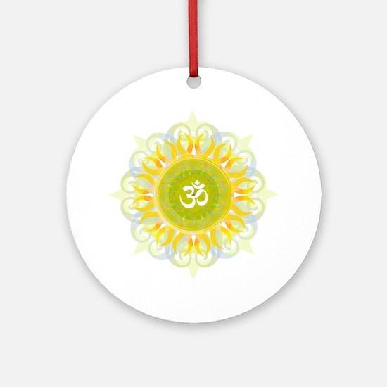 Om Mandala Ornament (Round)