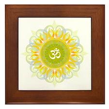 Om Mandala Framed Tile