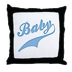 Blue Baby Swash Throw Pillow