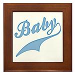 Blue Baby Swash Framed Tile