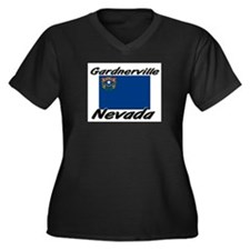 Gardnerville Nevada Women's Plus Size V-Neck Dark