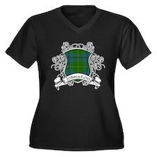 Johnston Tar Women's Plus Size V-Neck Dark T-Shirt
