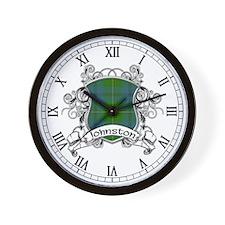 Johnston Tartan Shield Wall Clock