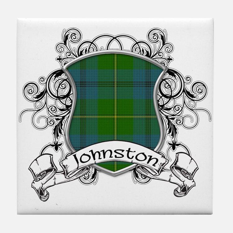 Johnston Tartan Shield Tile Coaster