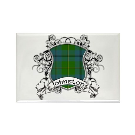 Johnston Tartan Shield Rectangle Magnet