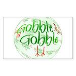 Gobble Gobble Rectangle Sticker 10 pk)